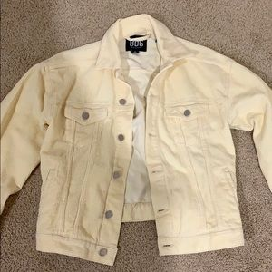 urban outfitters BDG yellow trucker jacket